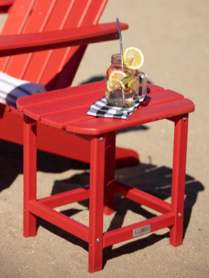 LuXeo Corona Side Table in Red