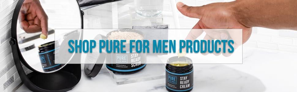 pure for men gay men cream lotion hydrate skin moisturizer