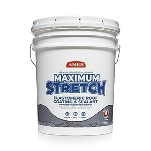 Maximum Stretch white roof coating 5 gallon pail