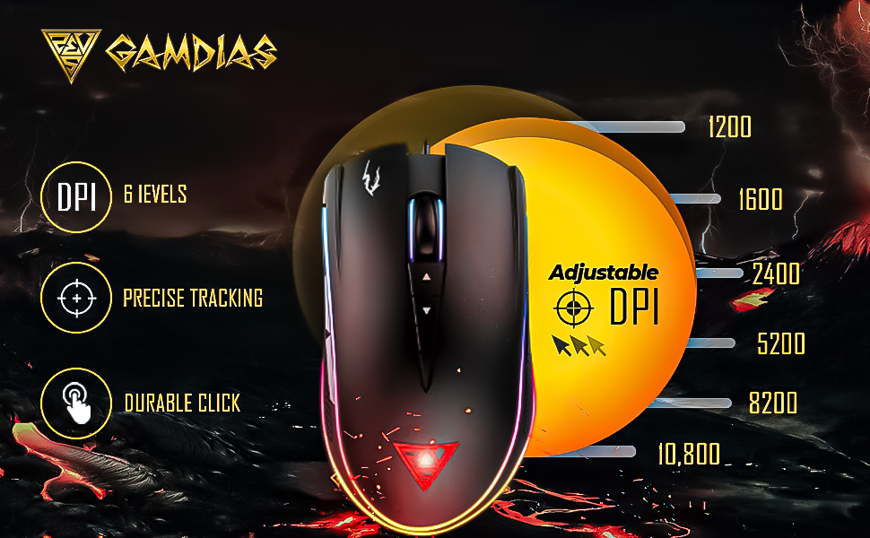 Gamdias Zeus M2 RGB Gaming Mouse with NYX E1 Mouse Pad