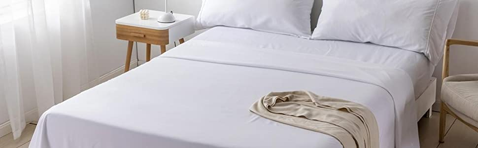 bed sheet set twin full queen king with pillow cover fitted sheet piping design comfort