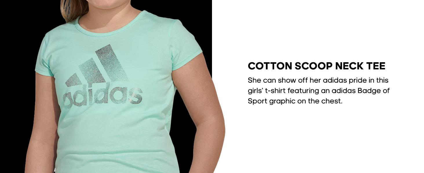 adidas Cotton Scoop Neck tee