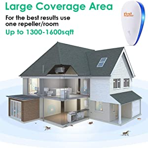 Large coverage area