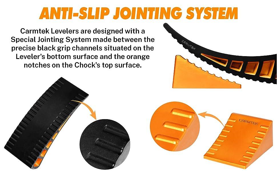 anti slip system rv leveler