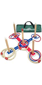 Elite Sportz Ring Toss Games for Kids - Indoor Holiday Fun or Outdoor Yard Game