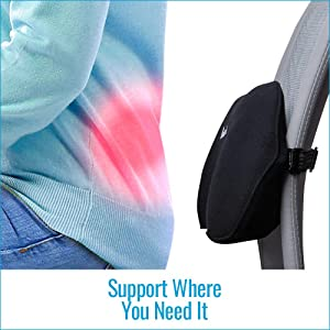 Lumbar Back Support Relax Support RS1 Office Chair Car Sofa Confort Sciatica Cushion