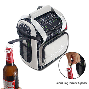 Lunch bag with corkscrew