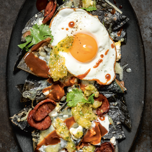 photo of Chipotle Chilaquiles with Chorizo & Goat Cheese