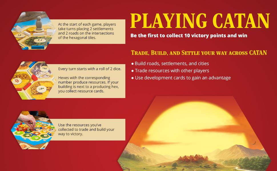 Playing CATAN Board Game