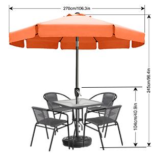 fringe umbrella outdoor patio boho