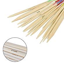 Aiguilles /à tricoter circulaires en bambou de 31,5 cm avec boucle magique Taille 3,50//3,75//4,50//5,0//5,50//6,0//8,0//9,0//10,0 mm+sac /à tricoter