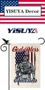 YISUYA Independence Day God Bless America garden flag