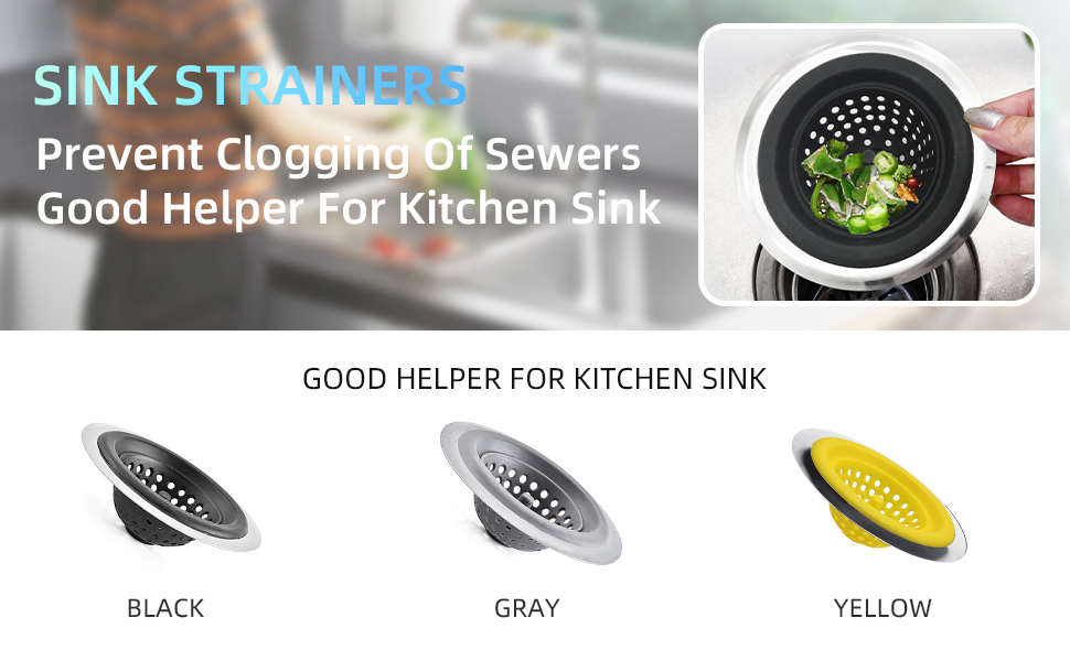 silicone sink strainers