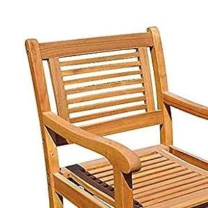 Gartenstuhl CORDOBA Eukalyptus Hartholz Stuhl Sessel Outdoor sitzen Garten