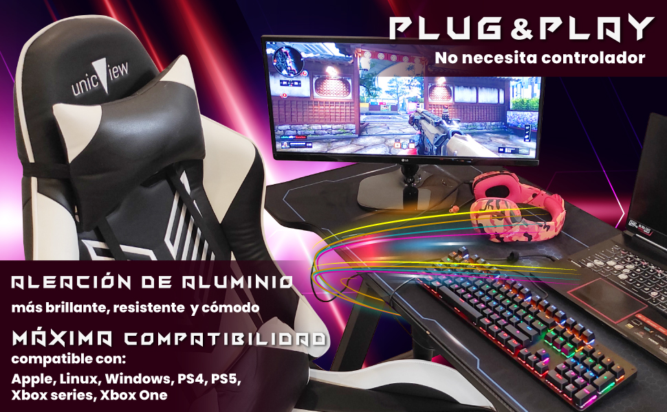 teclado mecanico en aleación de aluminio, teclado mecanico español, teclado gaming mecanico