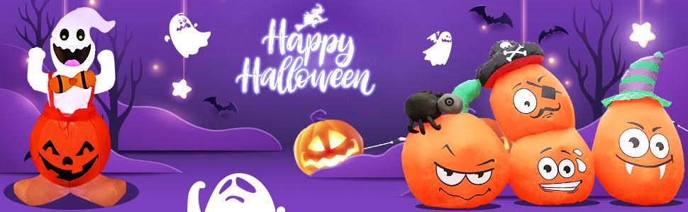 Halloween decorations outdoor inflatable pumpkin