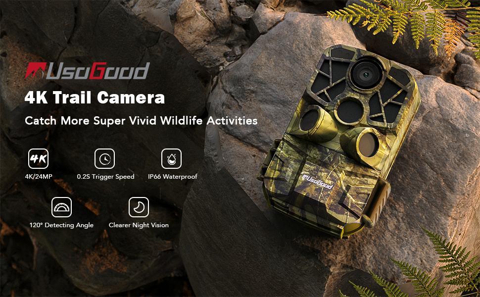 trail camera WiFi Bluetooth 4K 24MP