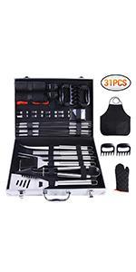 31 pcs bbq tools set