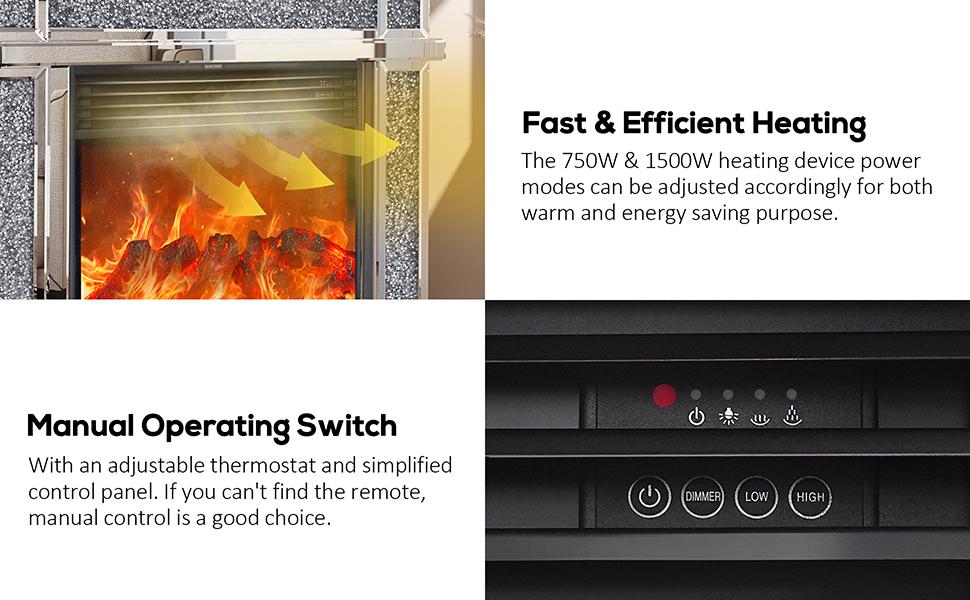 Freestanding Heater Firebox