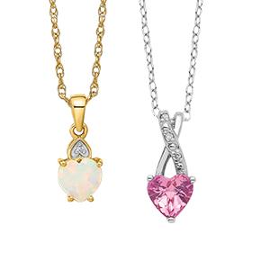 Gemstone Heart Necklace