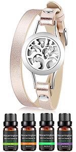 Diffuser bracelet with essential oil set