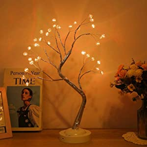 LED Table Lamp Firefly Star Tree, Touch Switch Warm White