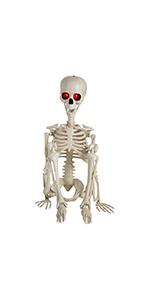 Skeleton with Red LED Light Eyes