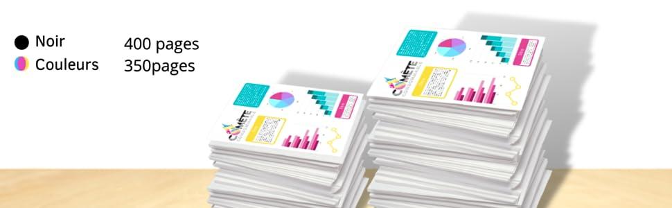 Rendement de pages pour cartouches d'encre compatibles canon 545-546XL