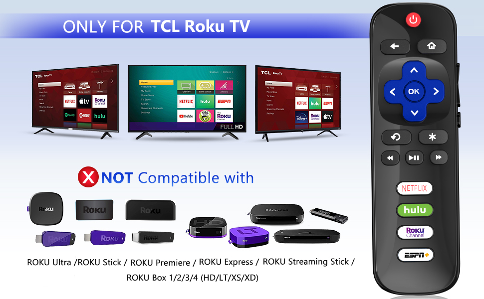 only for TCL ROKU TV