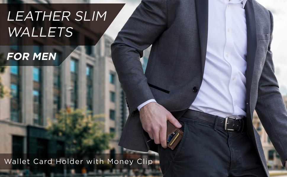 leather slim wallets