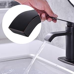 1 hole bathroom faucet