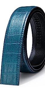 blue leather belt genuine leather strap fashion gift