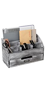 Office Desk Organizer 5 Compartment with 2 Drawer