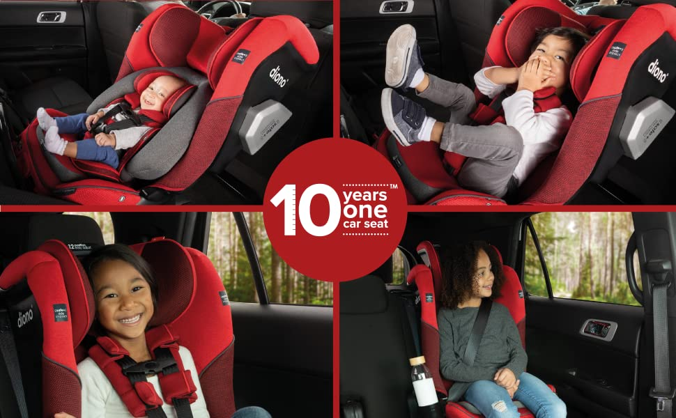 Diono Radian 3QXT 10 years one car seat - from rear to forward facing