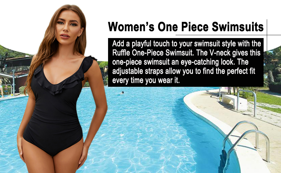 sexy one piece swimsuits for women black womens tummy control slimming retro full coverage red 1