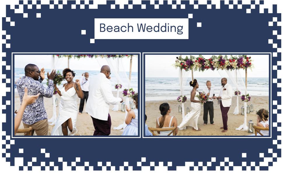 beach wedding bow tie
