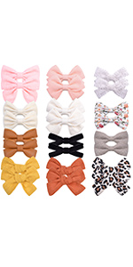 fully lined hair bows clips