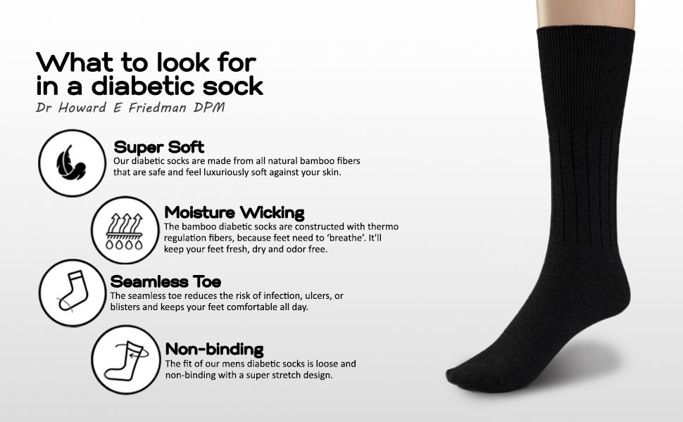 diabetic socks seamless toe non-binding