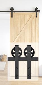 6.6FT barn door hardware kit