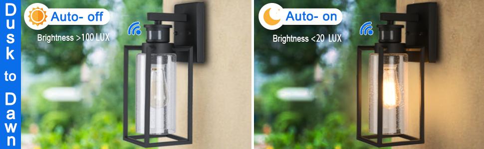 motion sensor outdoor wall lights