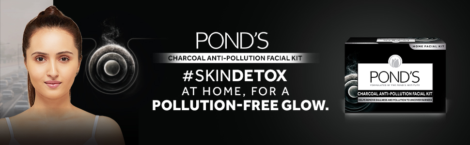 POND'S Charcoal Anti Pollution Home Facial Kit, 72 g