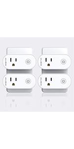 4 Pack Wifi smart plugs