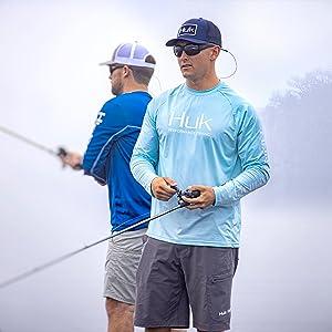 huk fishing shirt,rash guard, performance long sleeve tee,dry fit,workout shirt,fishing shirt mens