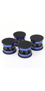 4 Pcs 49x42mm Compression Spring Type Speaker Feet Aluminum Isolation Stand