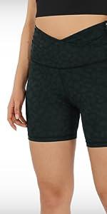 cross waist shorts