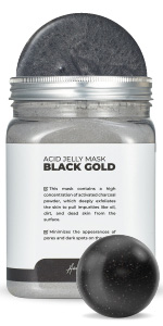 Black Gold Ac Jelly Jar Avery Rose Peel-Off Jelly Mask Spa Set for face amp;amp; Vajacial