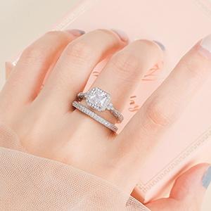 Eternity Wedding Ring For Women 925 Sterling Silver