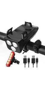 Luzes traseiras e faróis de bicicleta