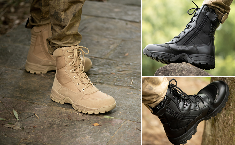 WIDEWAY military tactical boots