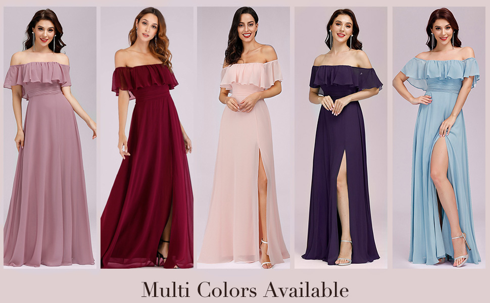 Ever-Pretty Womens maxi evening dresses long formal wedding guest dresses prom dresses with sleeves